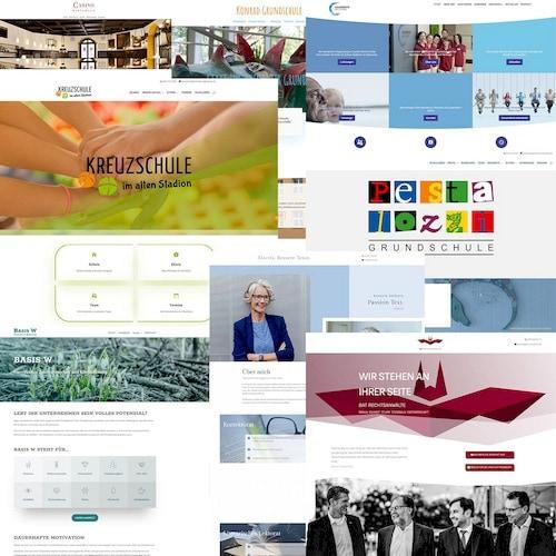 Collage verschiedene Webseiten Webdesign